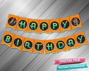 Zootopia Birthday Banner