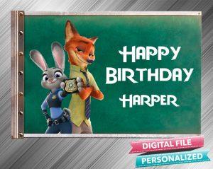 Zootopia Birthday Sign