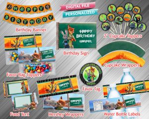 Zootopia Printable Birthday Package
