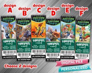 Zootopia Ticket Invitation – Choose 2 designs