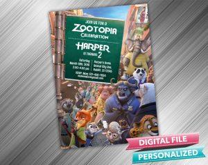 Zootopia Invitation