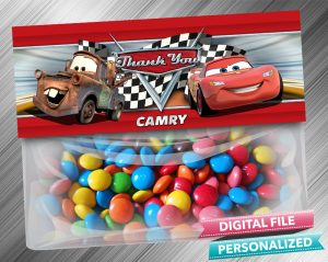 Cars Treat Bag Toppers