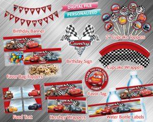 Cars Printable Birthday Package