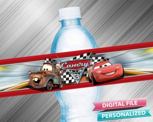 Cars Water Bottle Label