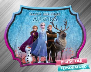 Frozen 2 Chalk Style Birthday Sign