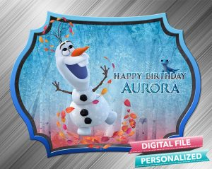 Olaf Frozen 2 Chalk Style Birthday Sign