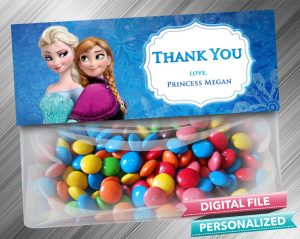 Frozen Anna Elsa Favor Bag Toppers