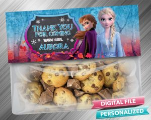 Frozen 2 Elsa Anna Chalk Style Favor Bag Toppers