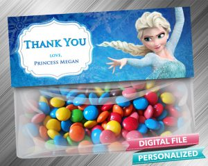 Frozen Elsa Favor Bag Toppers