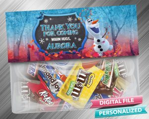 Olaf Frozen 2 Chalk Style Favor Bag Toppers