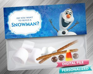Do you want to build a Snowman Frozen Treat Bag Toppers
