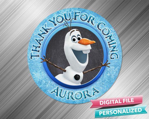 Olaf Frozen 2 Favor Tag Sticker Birthday