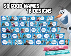 Frozen Food Tent Food Label 56 Food Names 16 Designs