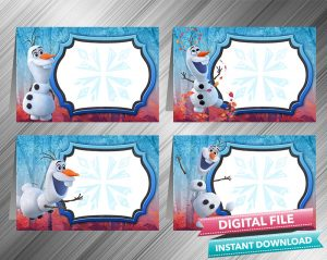 Olaf Frozen 2 Chalk Style Food Tent
