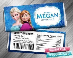 Frozen Anna Elsa Hershey Wrapper