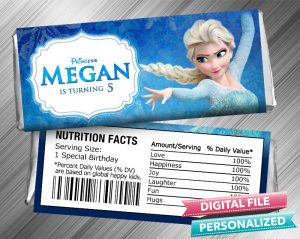 Frozen Elsa Hershey Candy Bar Wrapper