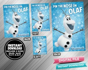 Pin The Nose On Olaf Birthday Game Frozen 2