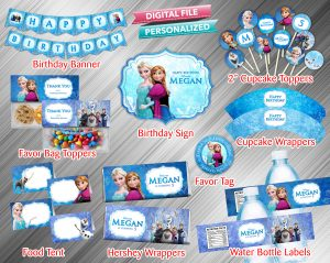 Frozen Printable Birthday Package