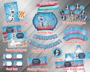 Olaf Frozen 2 Chalk Style Printable Birthday Package