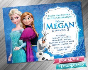 Frozen Anna Elsa Olaf Invitation