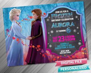 Elsa and Anna Chalk Invitation
