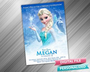 Frozen Snow Queen Elsa Invitation