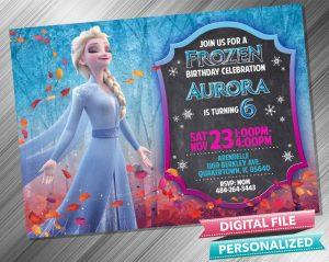 Elsa Chalk Invitation