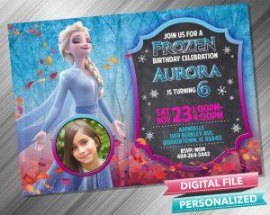 Elsa Chalk Invitation with picture