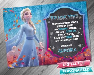 Elsa Chalk Thank you Card