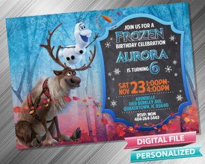 Olaf and Sven Chalk Invitation