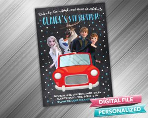 Drive by Frozen 2 Invitation Birthday Parade Drive Through Birthday Party Quarantine Birthday Social Distancing Party Invitation