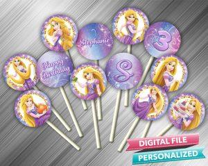 Princess Rapunzel Cupcake Toppers